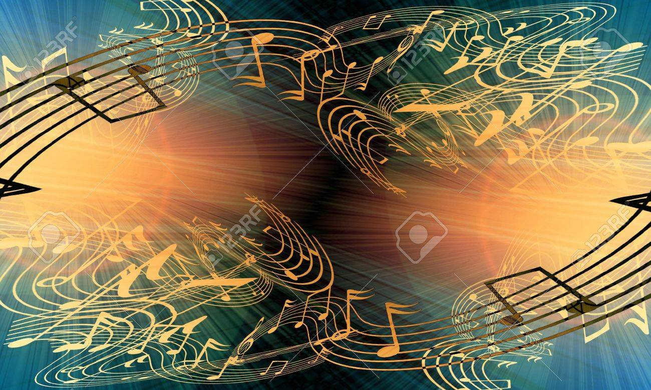 music notes on a soft grunge background Stock Photo - 3934782