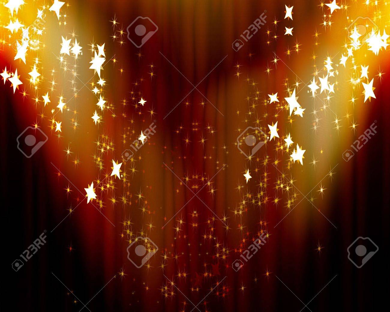 Curtain background with spotlights and some glitters on it Stock Photo - 4048364