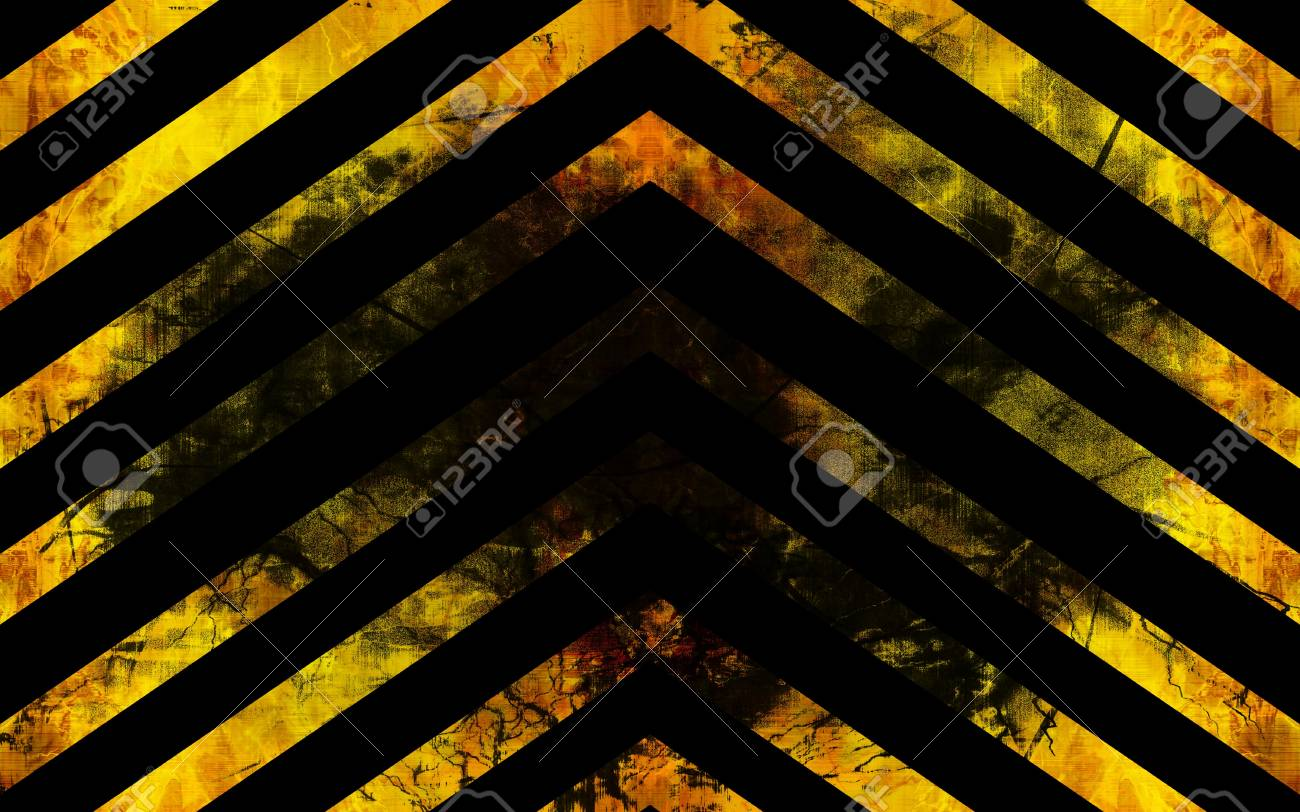 Attention sign with some damage on it Stock Photo - 4079579