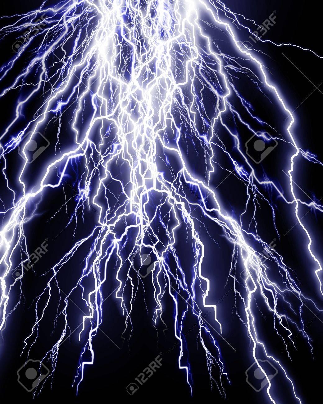 a55c90f46cc2 Intense lightning storm on a dark background Stock Photo - 4079493
