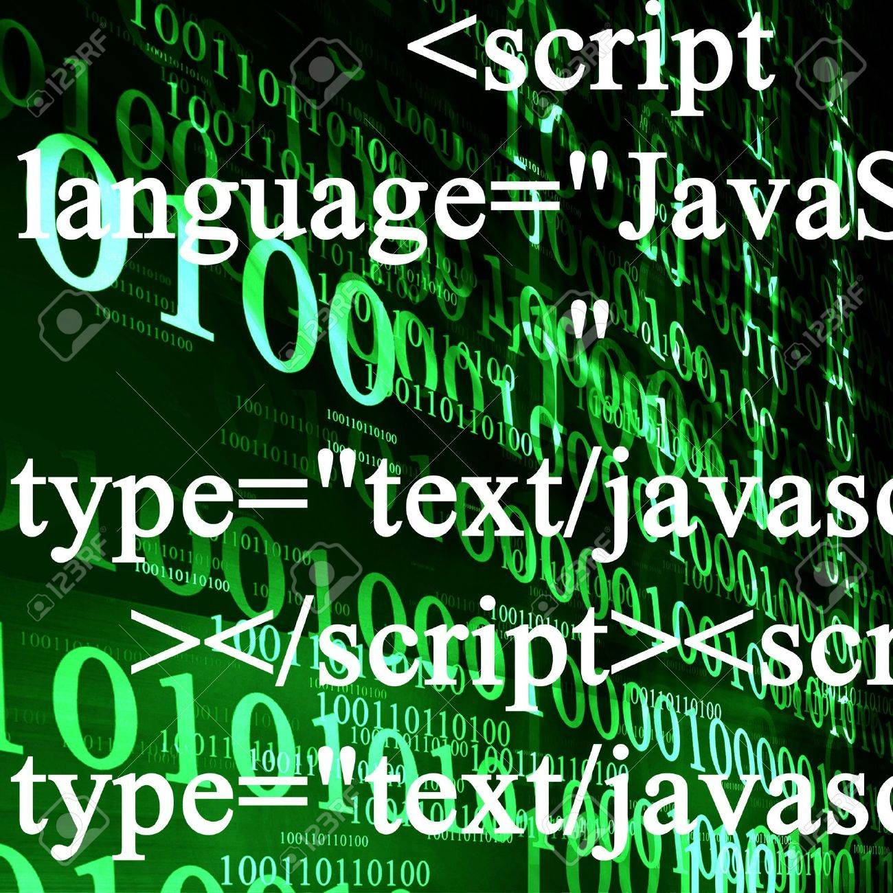 Background image javascript - Bits And Bytes On A Dark Green Background Stock Photo 4149037