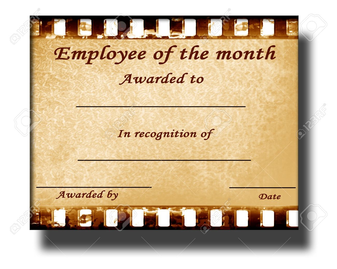 funny employee of the month certificate