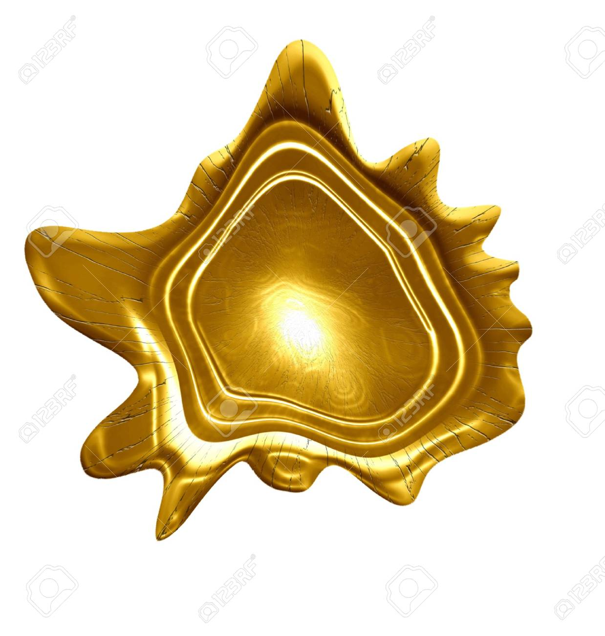 golden medal on a solid white background Stock Photo - 5009088