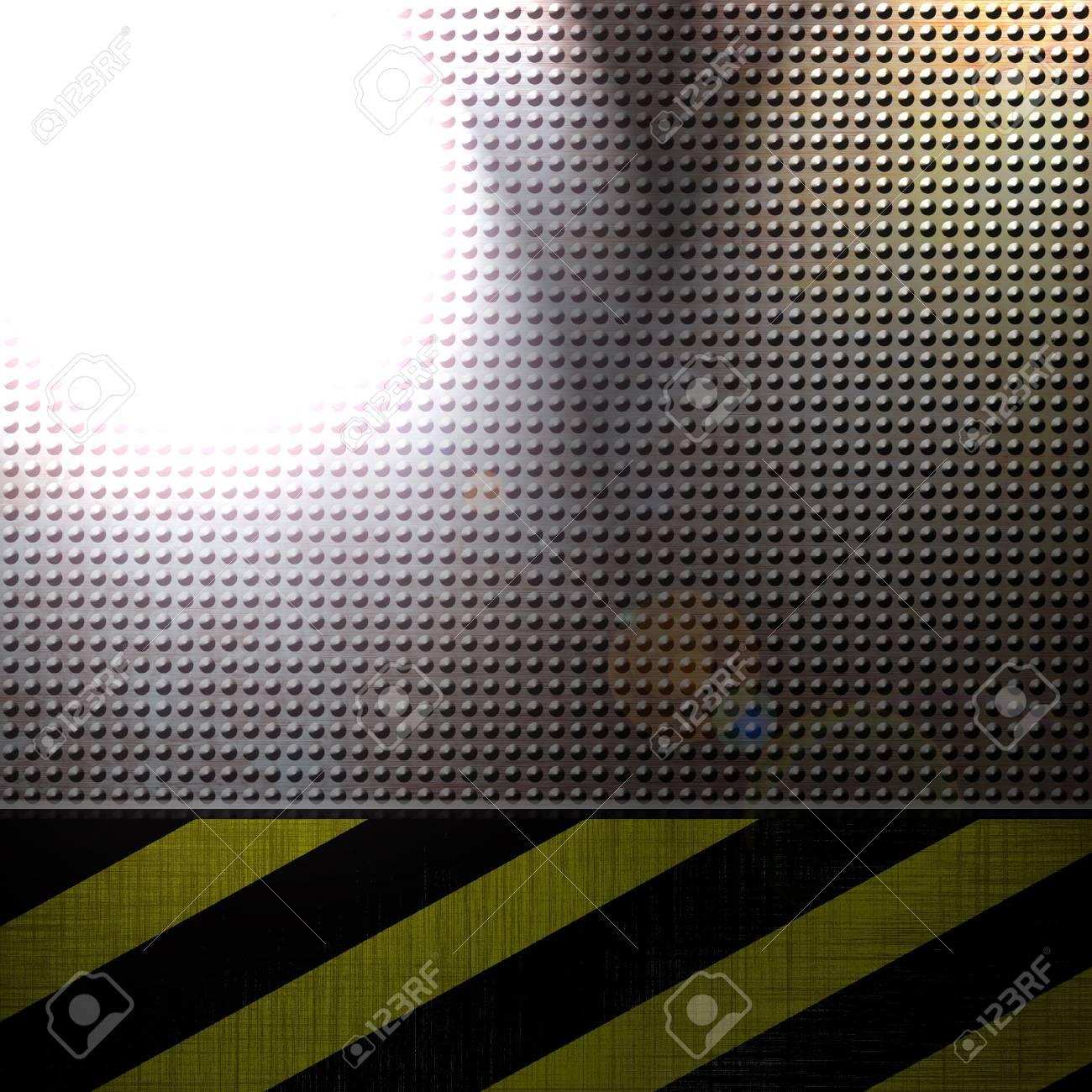 metal plate with an integrated construction sign in it Stock Photo - 5597939