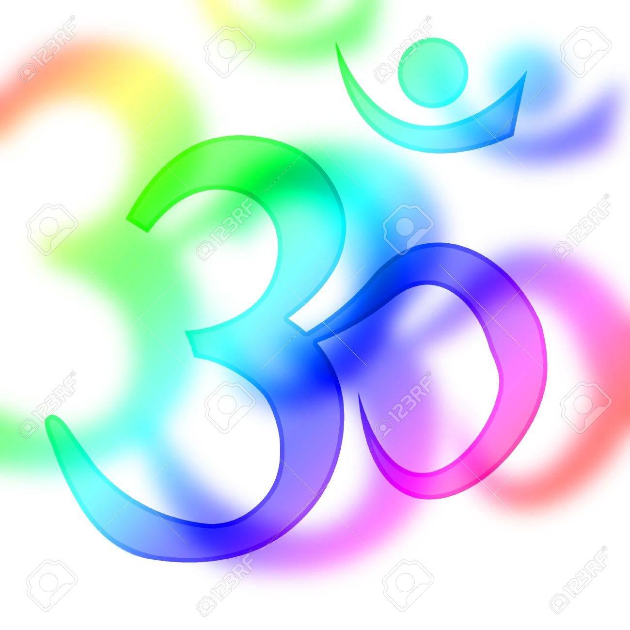 om aum symbol on a white background Stock Photo - 5659559