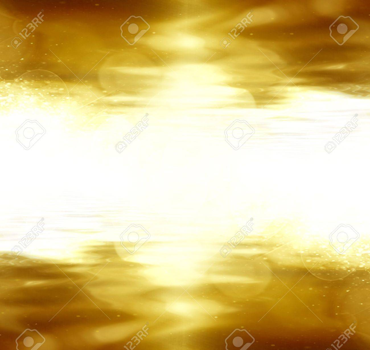 gold glitter on a dark yellow background Stock Photo - 5808986