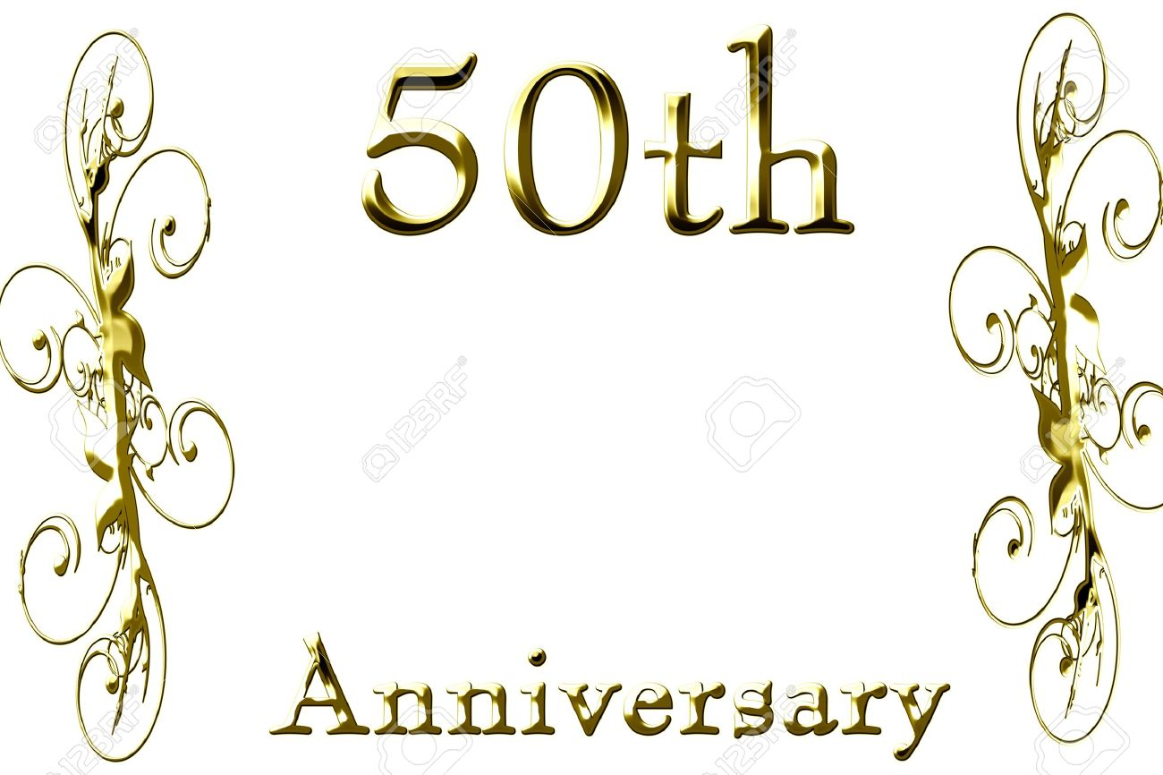 50th wedding anniversary 50th anniversary on a solid white background
