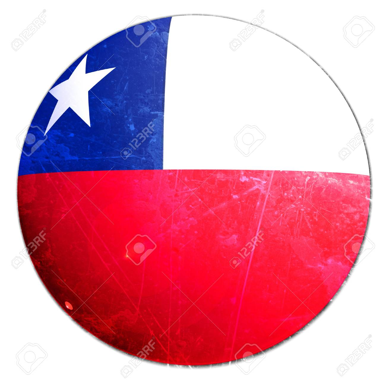 chilean flag on a solid white background Stock Photo - 10340813
