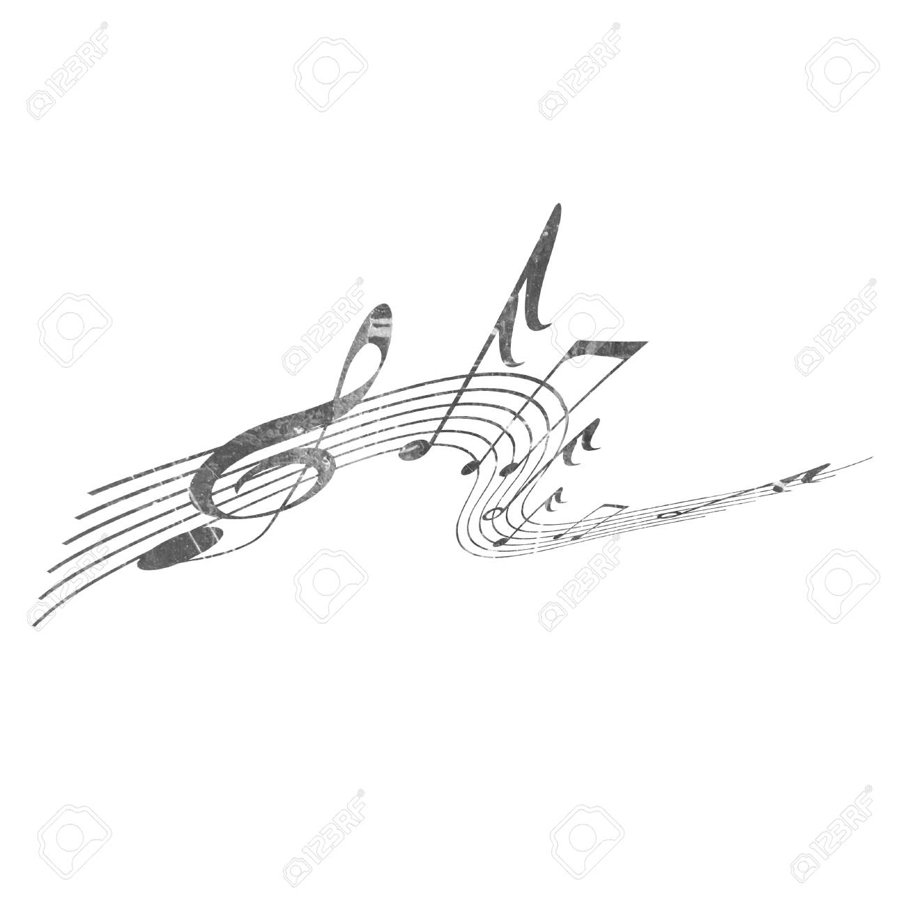 musical notes on a solid white background Stock Photo - 10337041