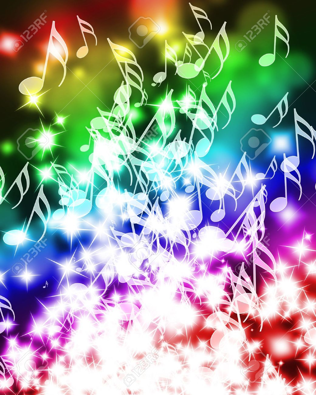 Top Wallpaper Music Rainbow - 10342373-colorful-music-notes-on-a-beautiful-rainbow-background  You Should Have_21821.jpg
