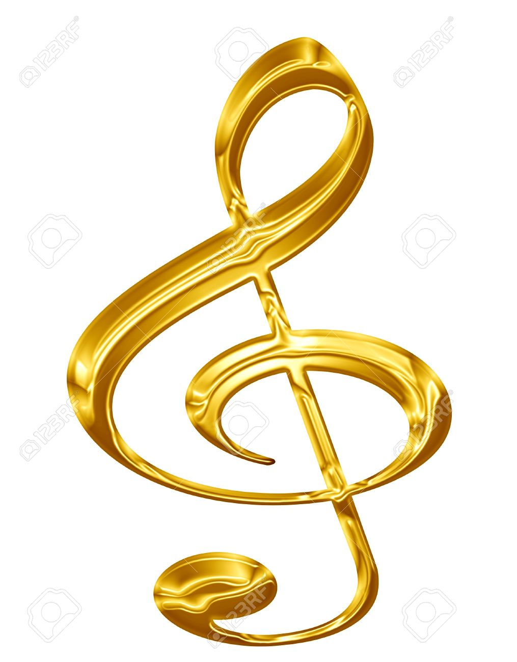 Golden music note on a solid white background stock photo picture golden music note on a solid white background stock photo 14669927 altavistaventures Images