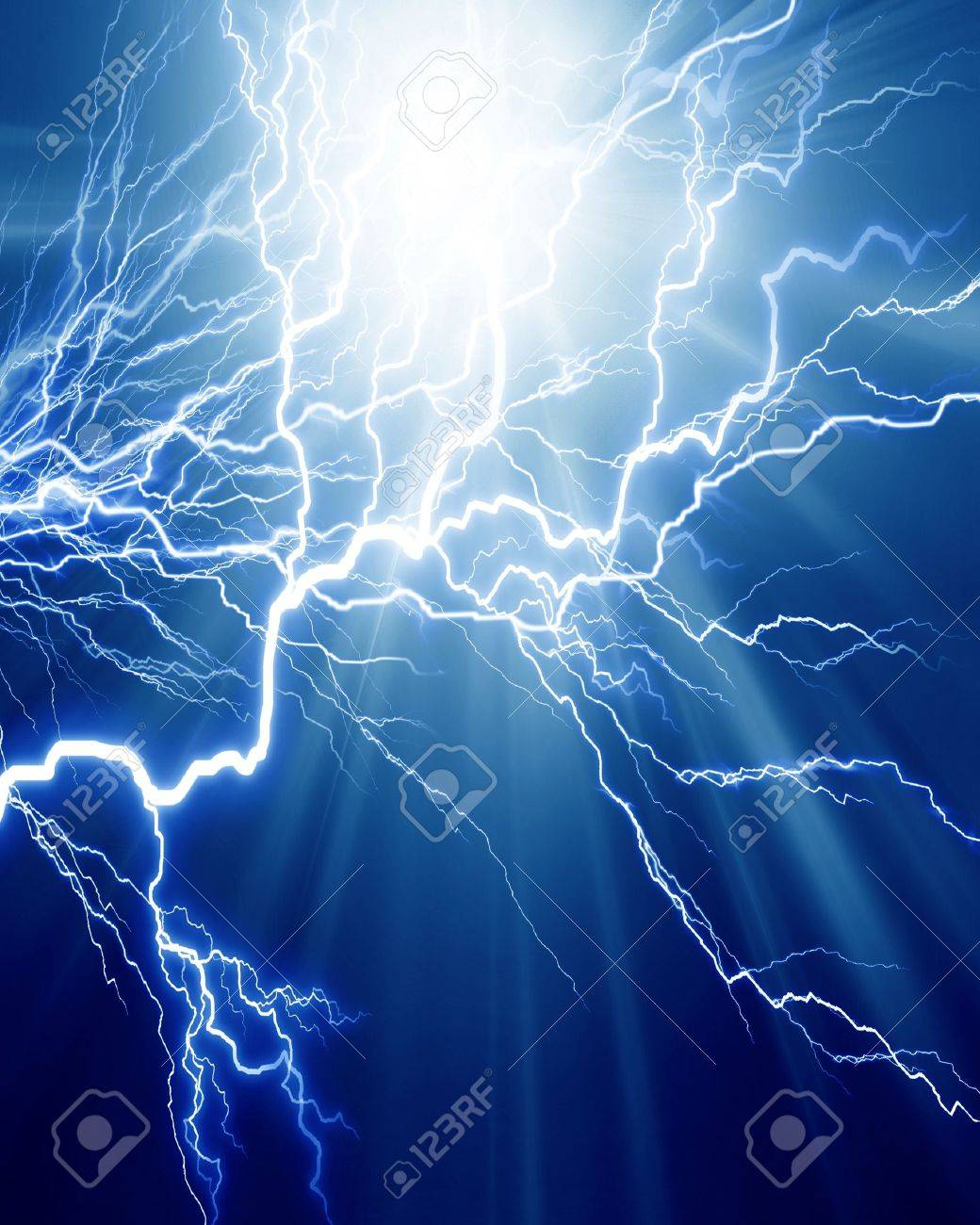 Intense electrical discharge on a dark background Stock Photo - 14670086