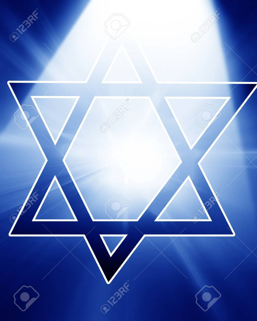 Star of David, representing the Jewish religious symbol Stock Photo - 14670036