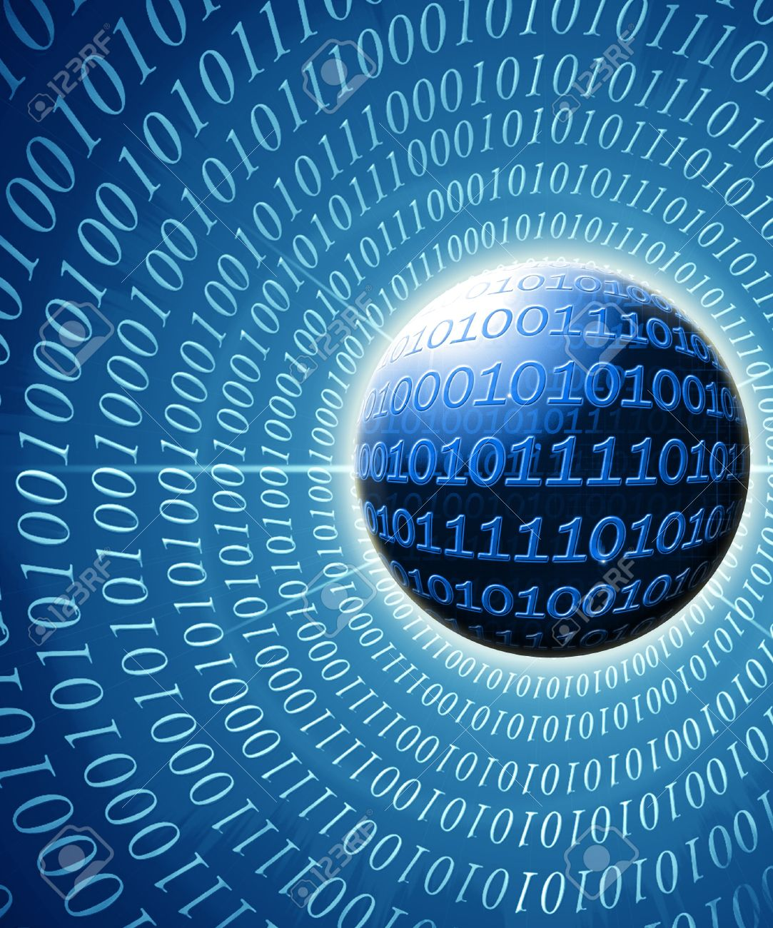 Visual representation of a digital world with bits and bytes Stock Photo - 14840669
