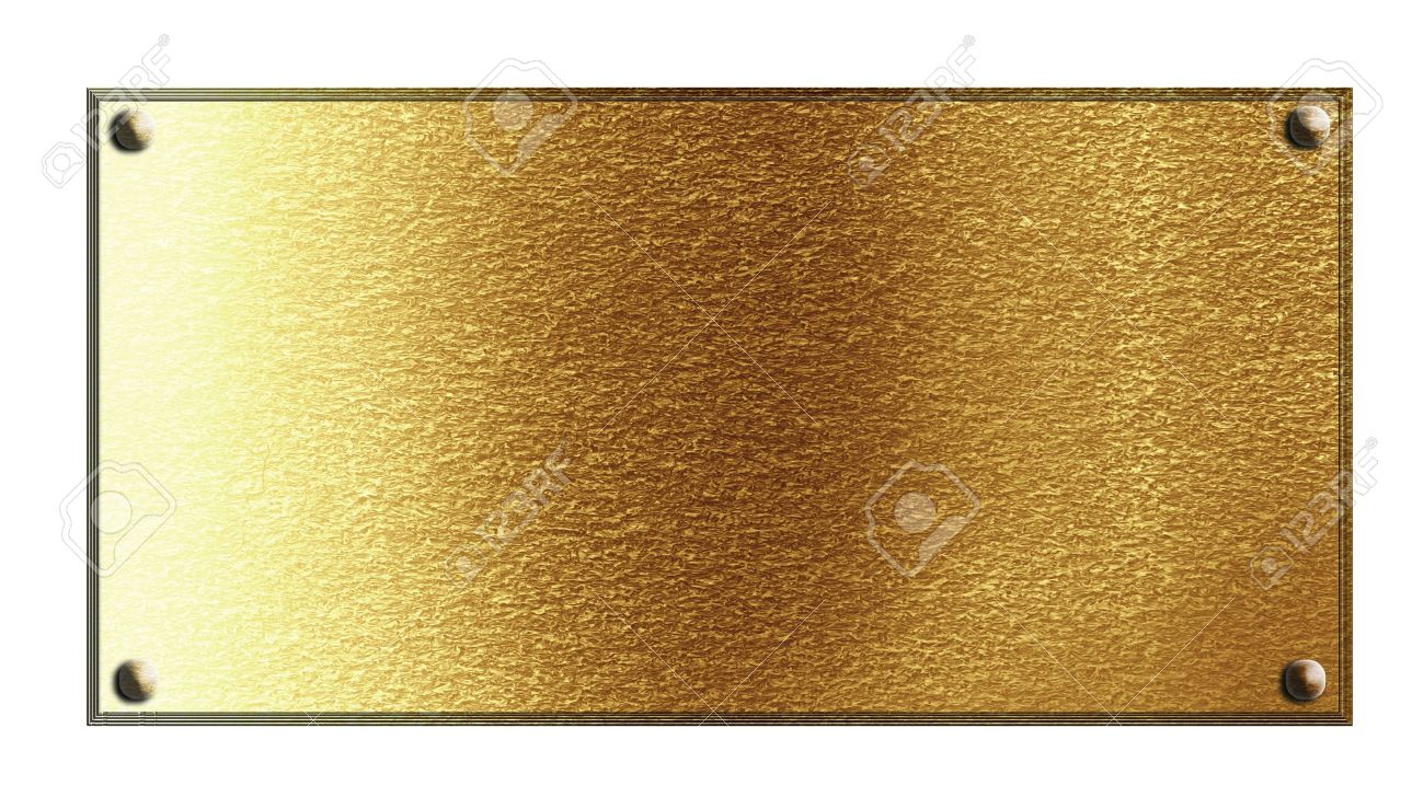 Golden or copper plate with some reflected lights and reflections Stock Photo - 14840866