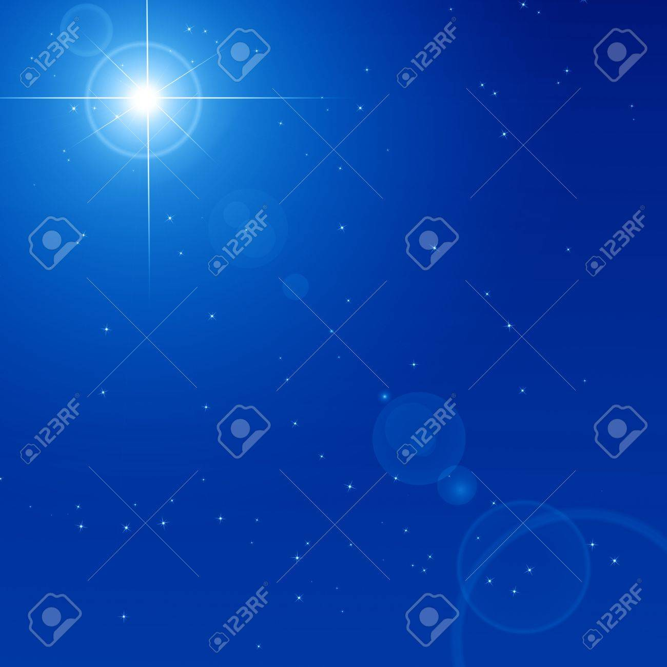 Peaceful blue sky filled with sparkling stars Stock Photo - 14840274