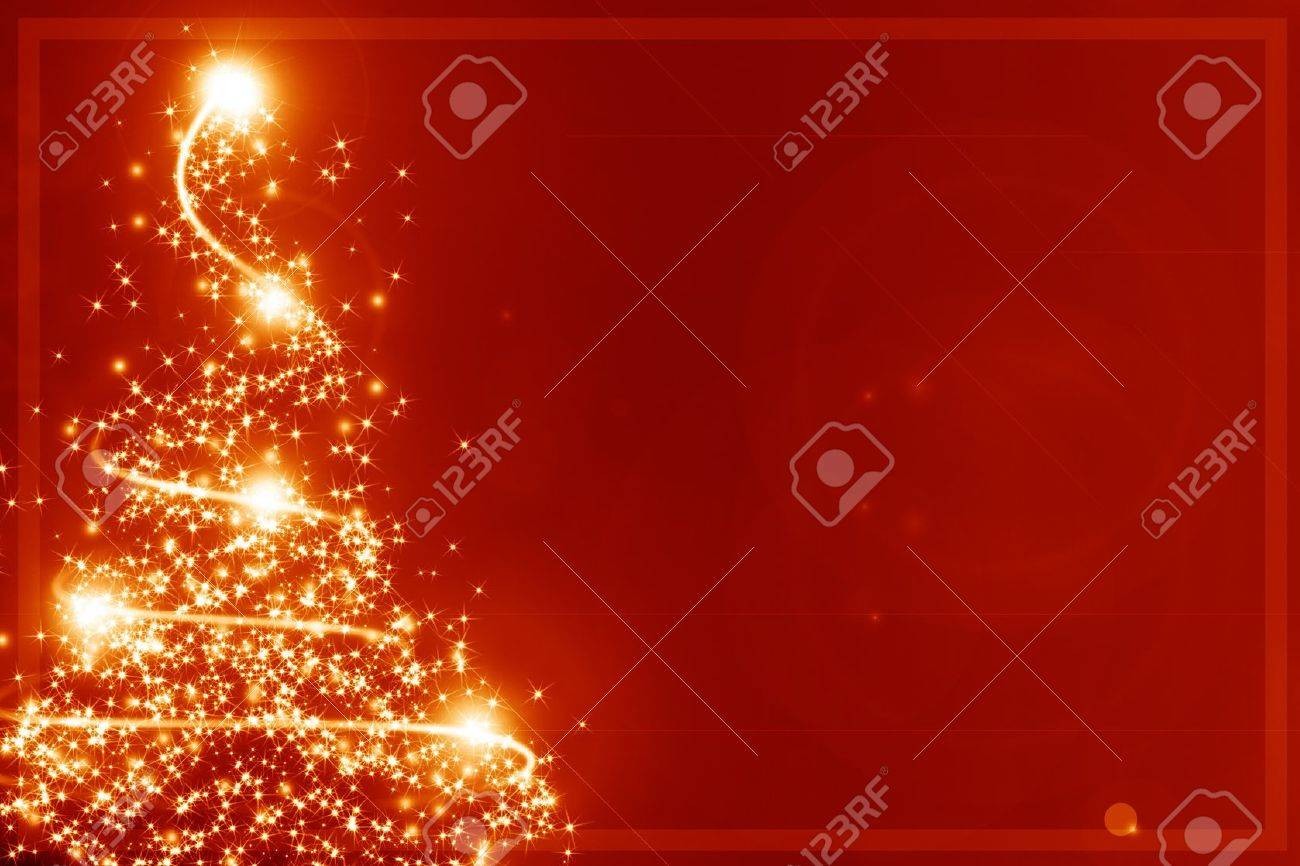 Abstract christmas tree on a red background Stock Photo - 14949273