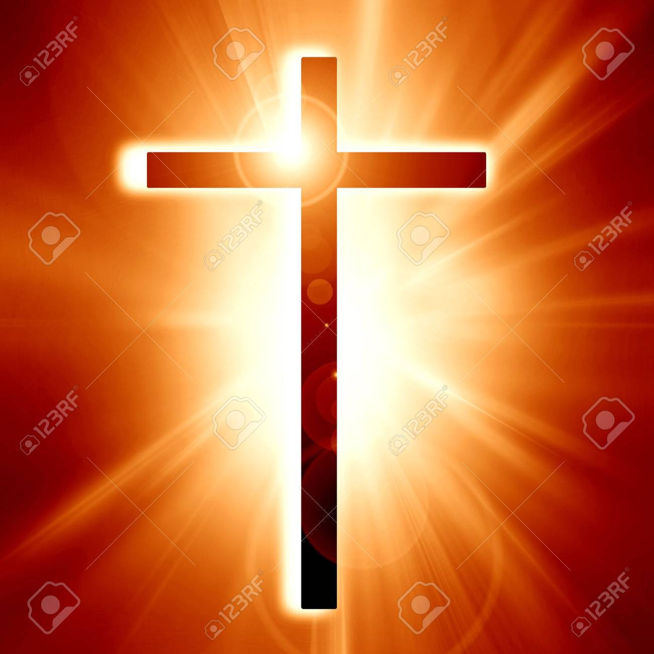 Christianity representation with the symbol of a cross Stock Photo - 14949339