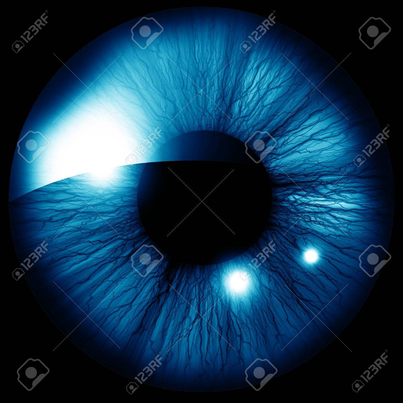 Human iris with some highlights and reflections Stock Photo - 15009674