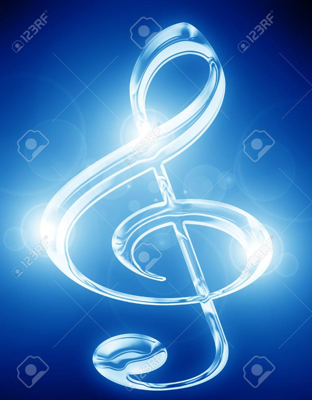 Colorful musical note on a soft dark background Stock Photo - 15009301