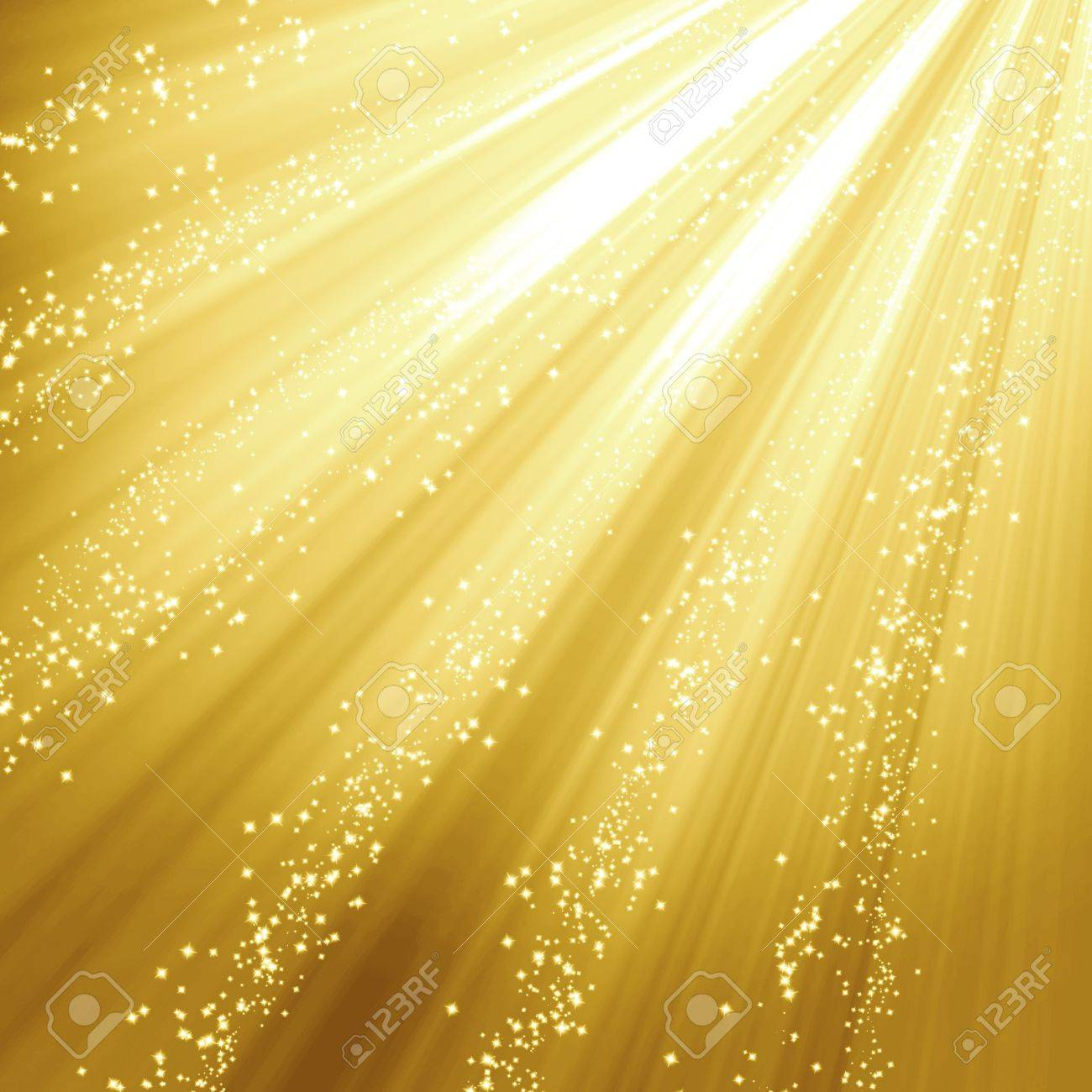 Golden christmas or festive background with soft highlights and  shades Stock Photo - 15140074