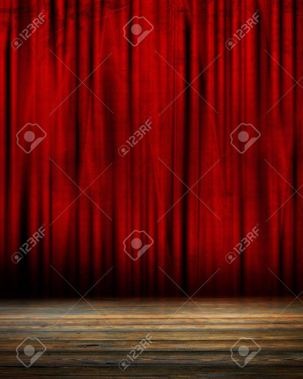 Movie or theater curtain with soft shades Stock Photo - 15140072