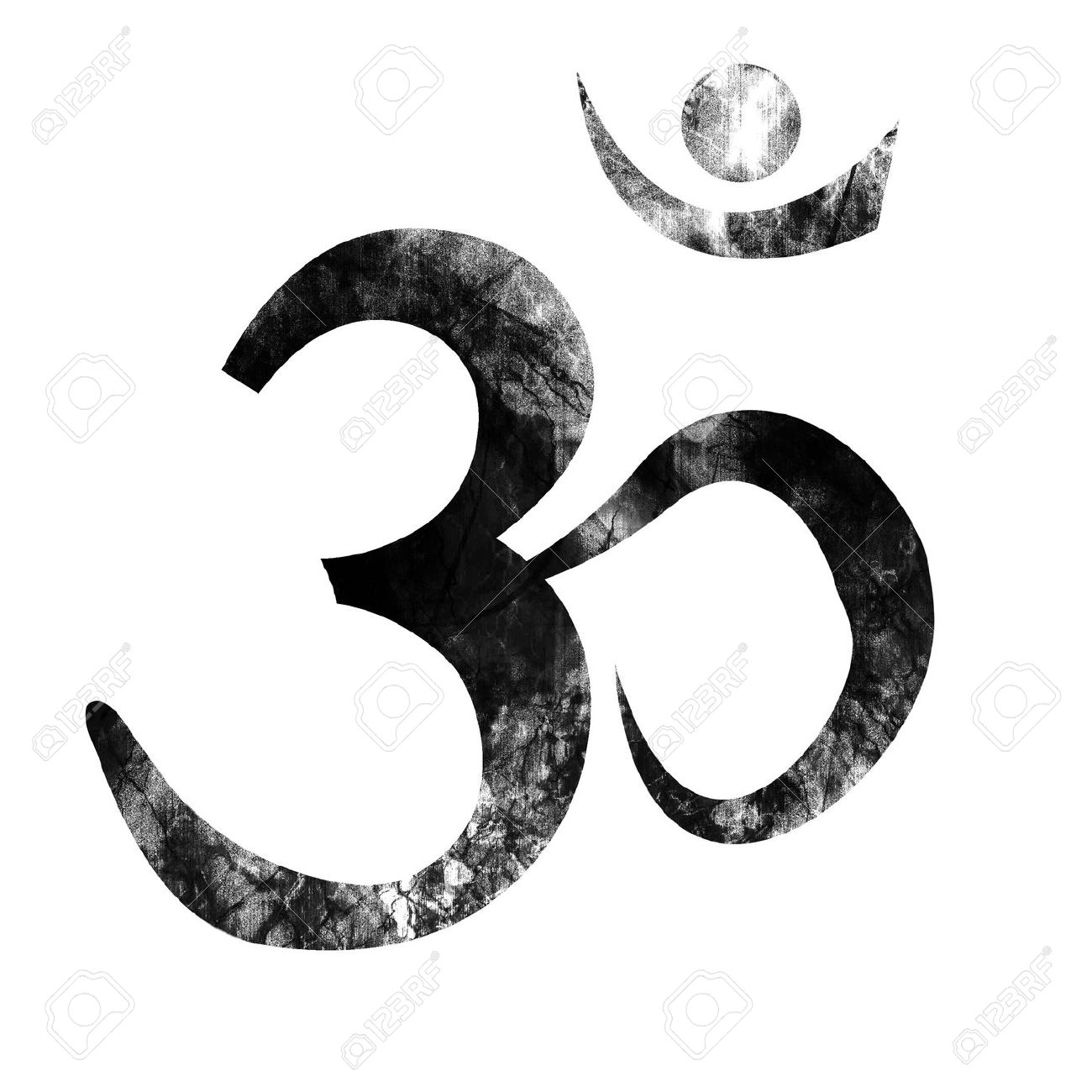 Om Symbol With Some Smooth Lines And Highlights Stock Photo Picture