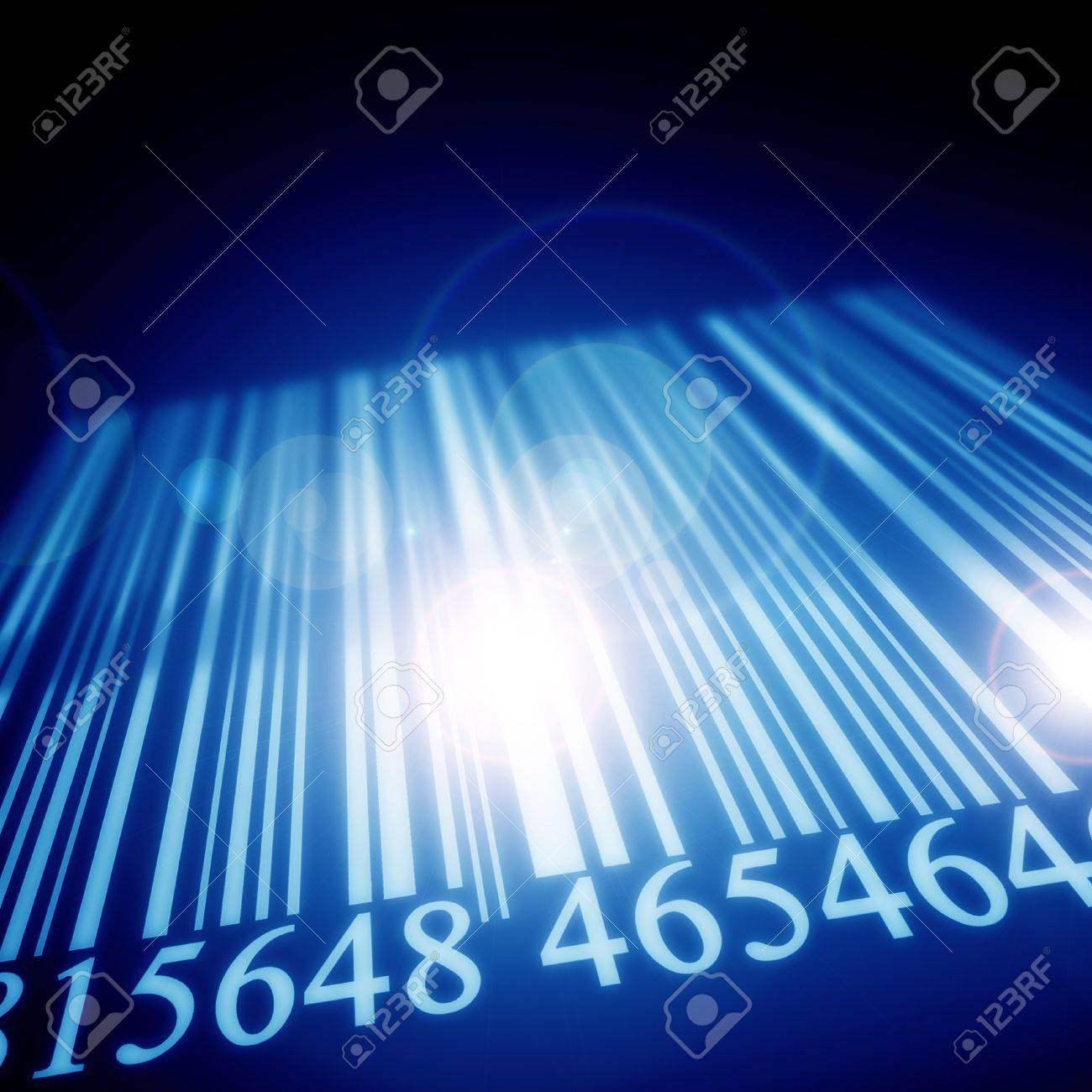 Bar code on a blurred background with some highlights Stock Photo - 15612659