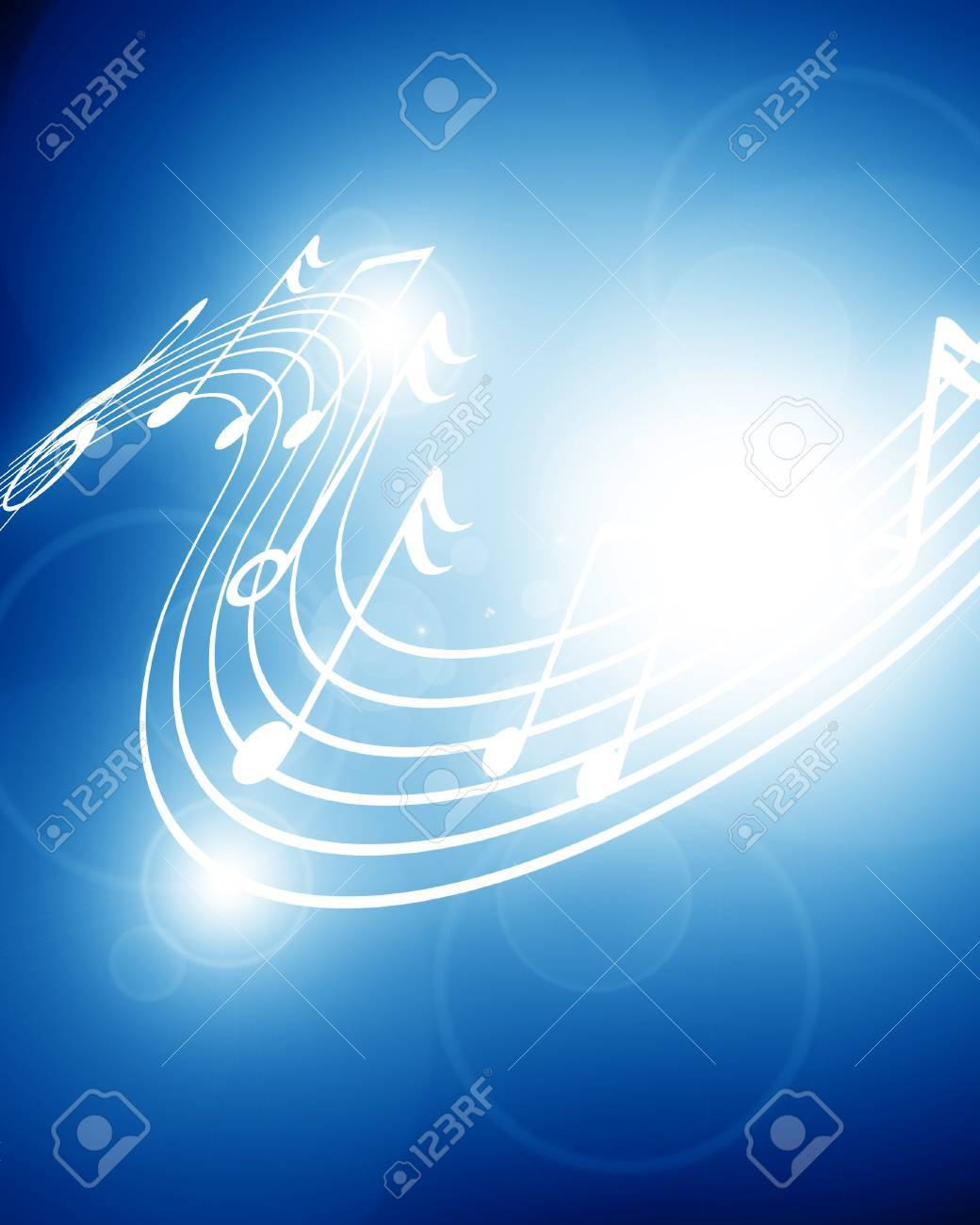 Colorful musical notes on a soft dark background Stock Photo - 15612630