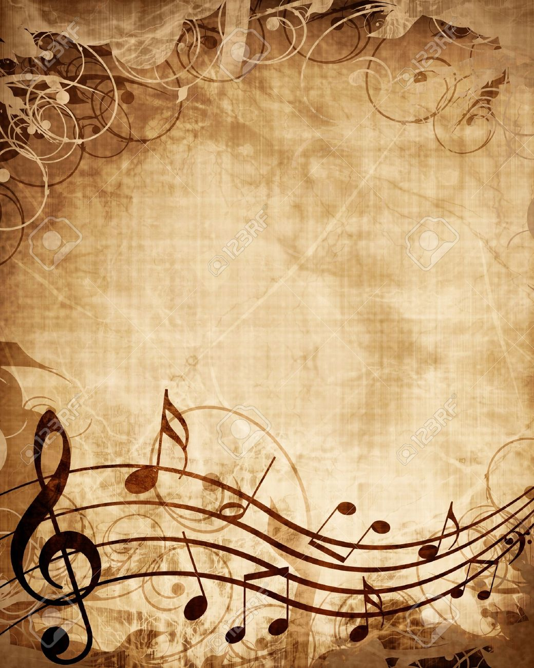 Old music sheet with musical notes Stock Photo - 15612726