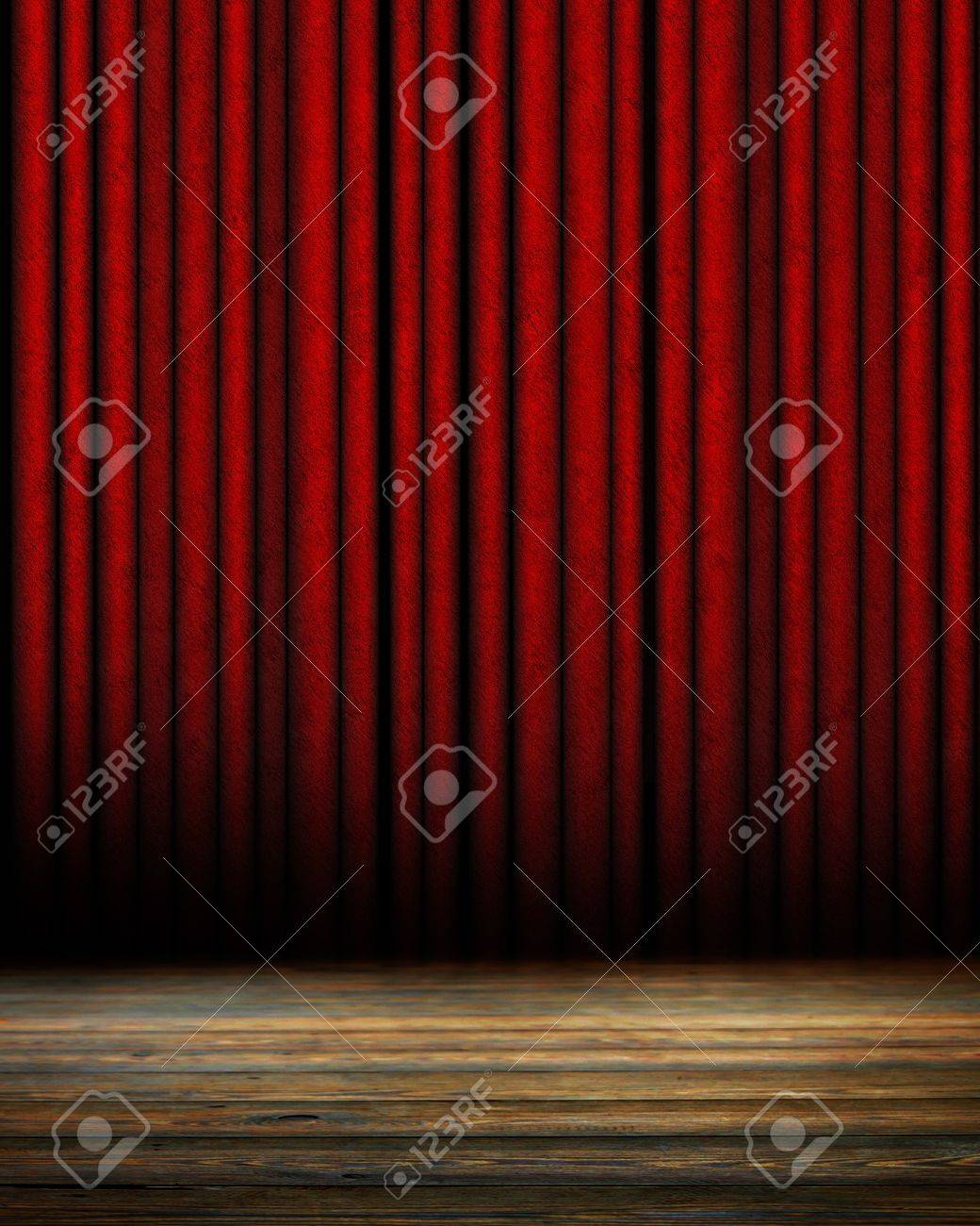 Movie or theater curtain with soft shades Stock Photo - 15612754