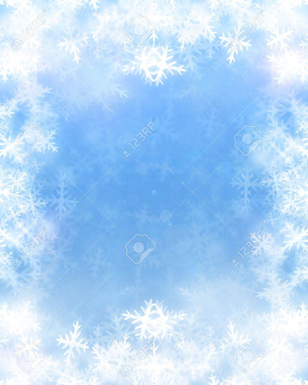 Winter background with some soft highlights and snow flakes Stock Photo - 15612673