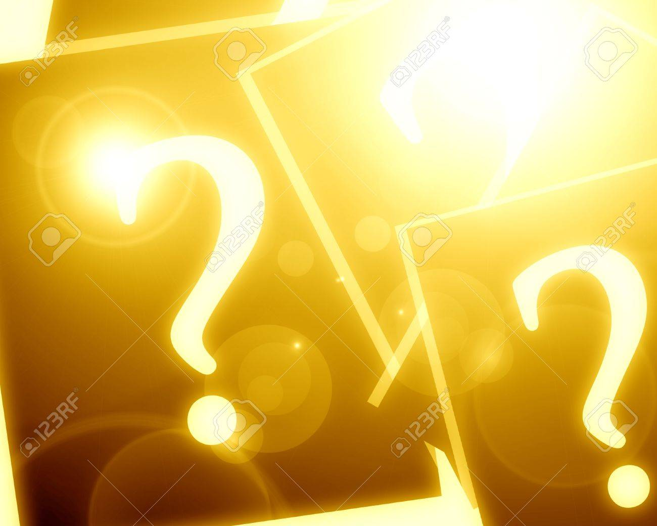 Question mark with some highlights and glowing edges Stock Photo - 15752650