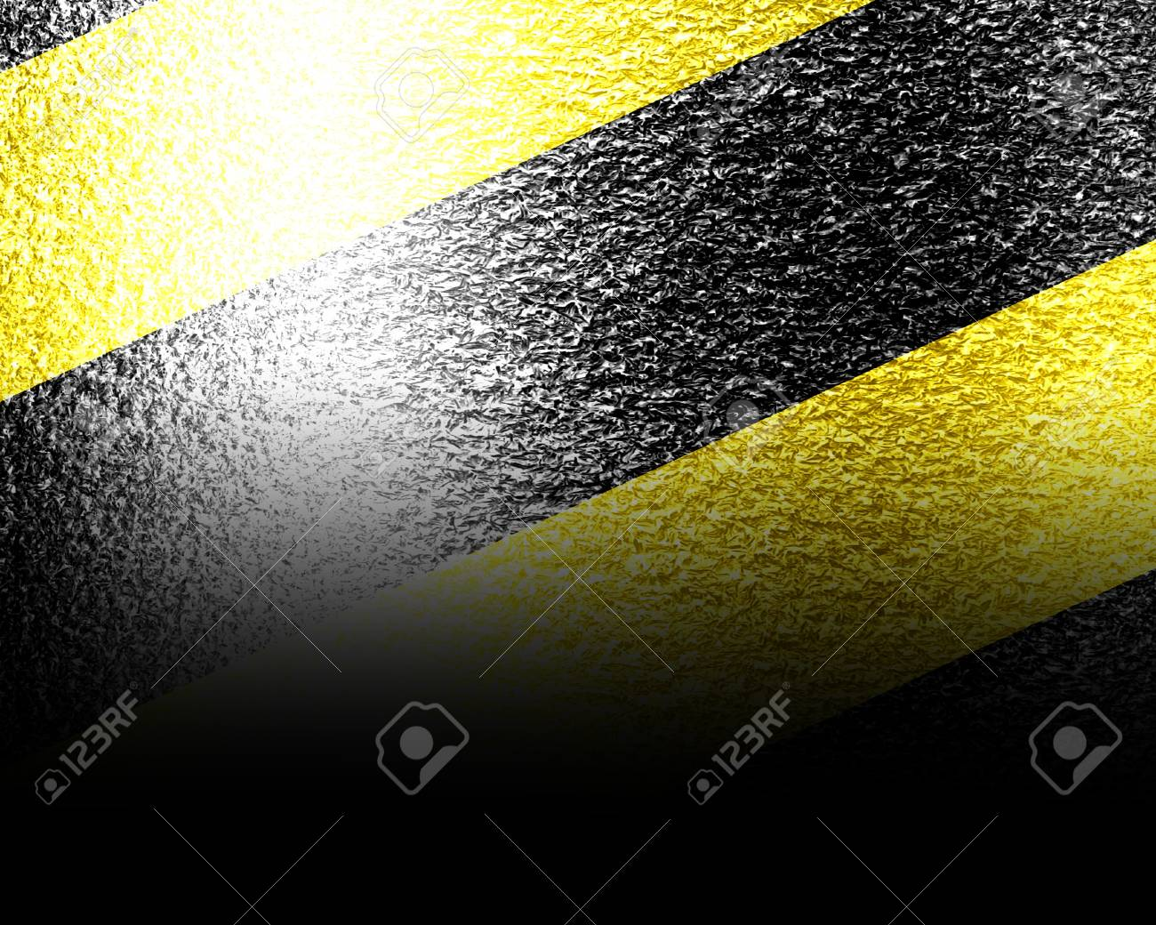 Black and yellow hazard lines with grunge effects Stock Photo - 16419897