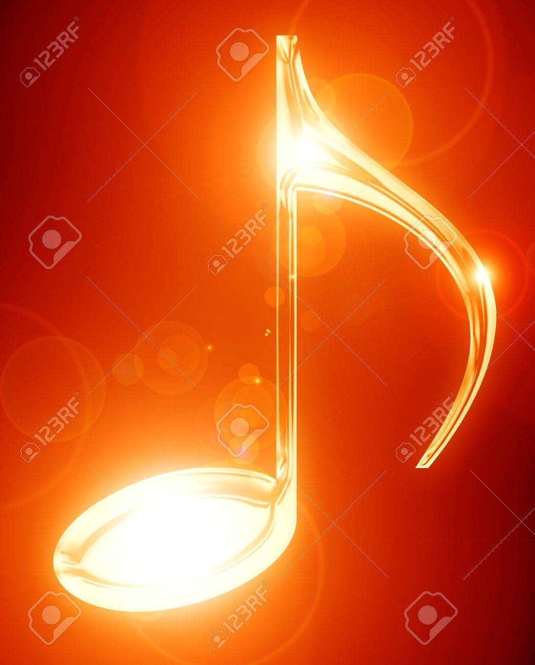 Colorful musical note on a soft dark background Stock Photo - 16419814