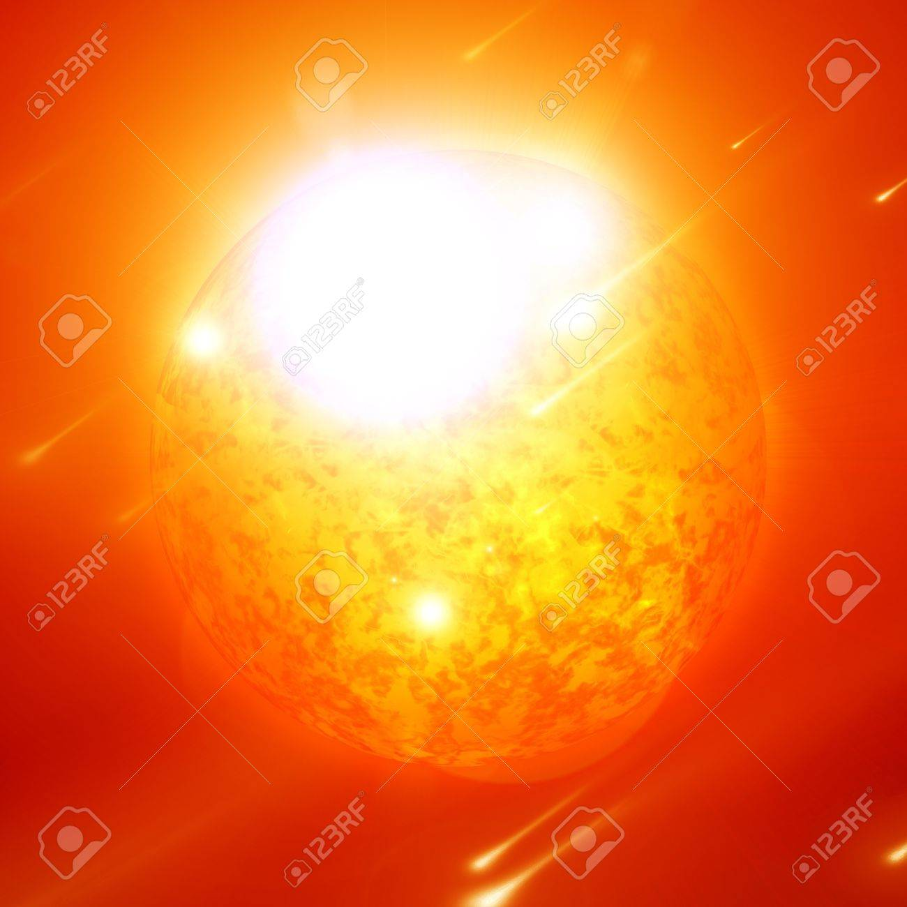 Sun in outer space with intense solar activity