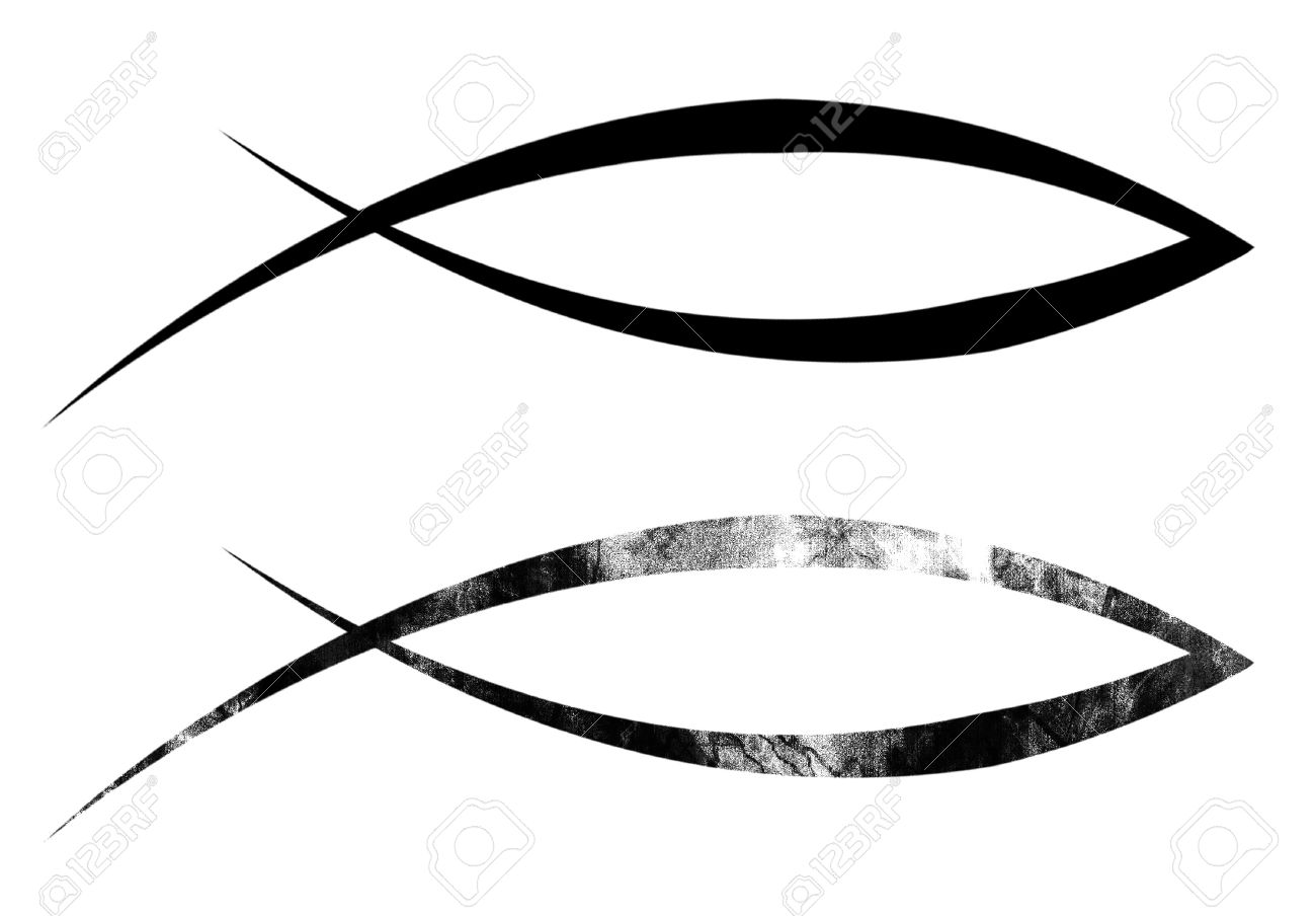 Black christian fish symbol on a solid white background stock photo black christian fish symbol on a solid white background stock photo 21878279 buycottarizona Gallery