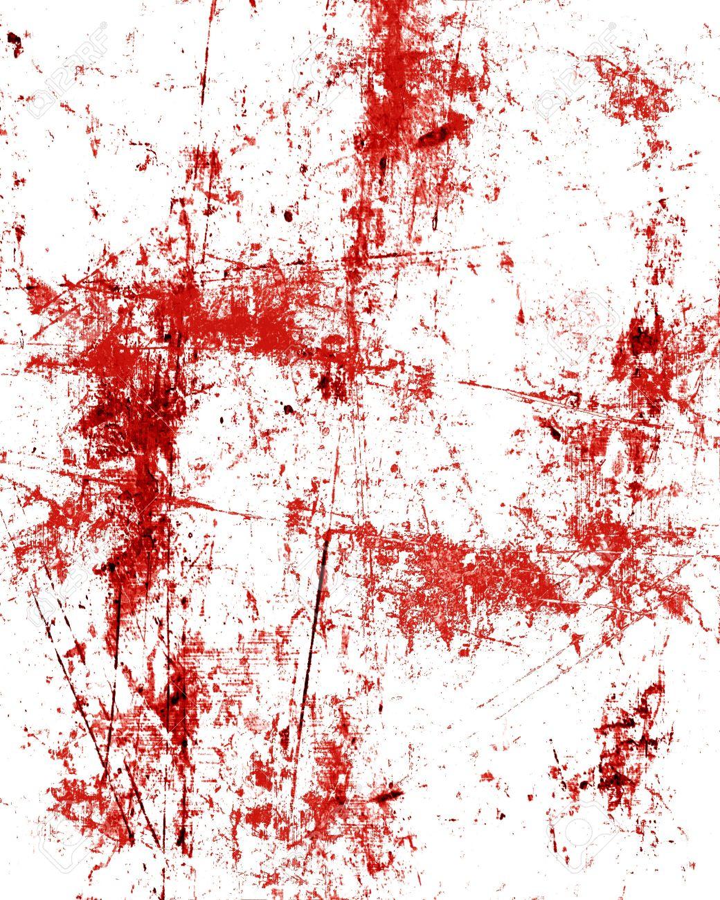 Red Blood Splatter On A Grunge Like Background Stock Photo ...
