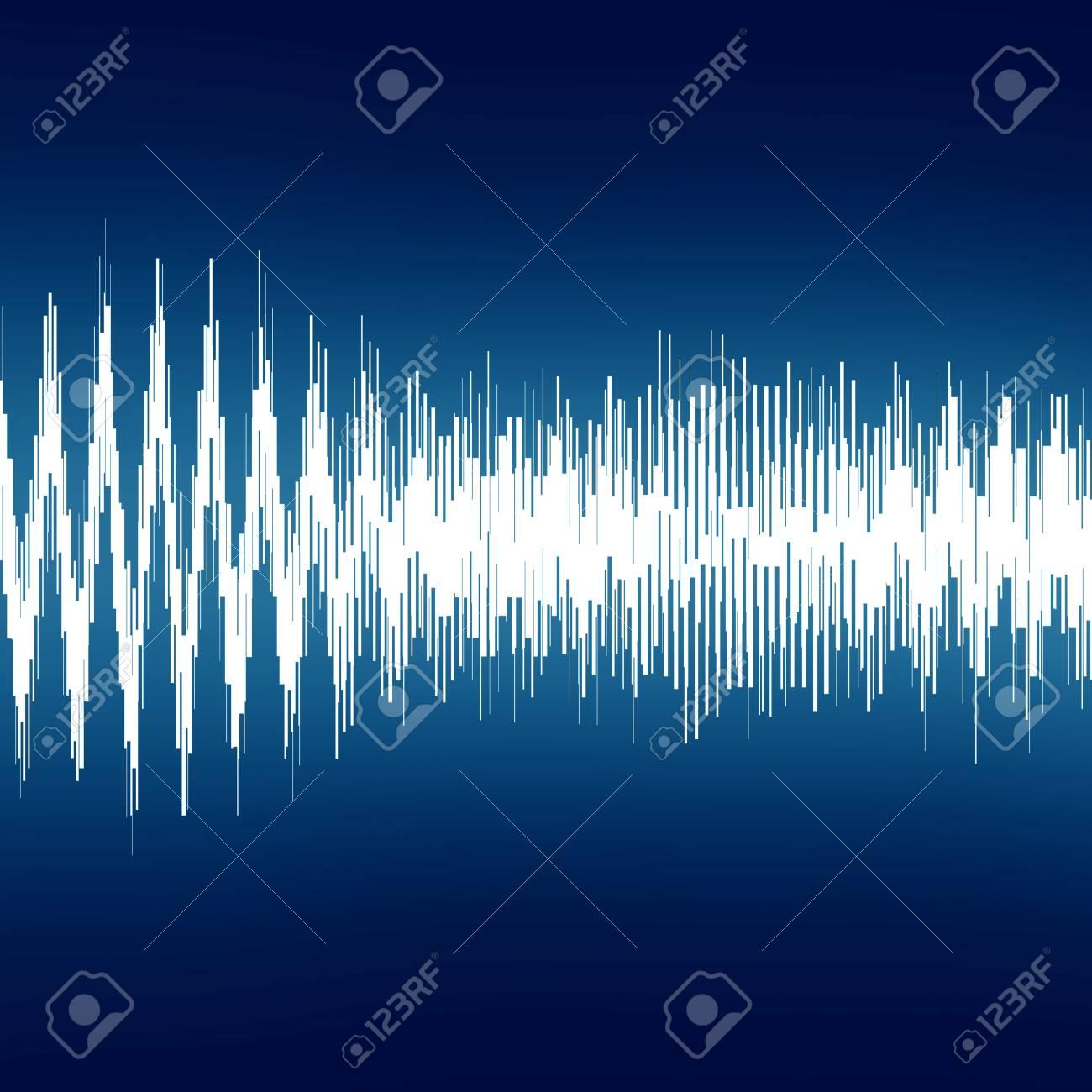 bright sound wave on a dark blue background Stock Photo - 22103516