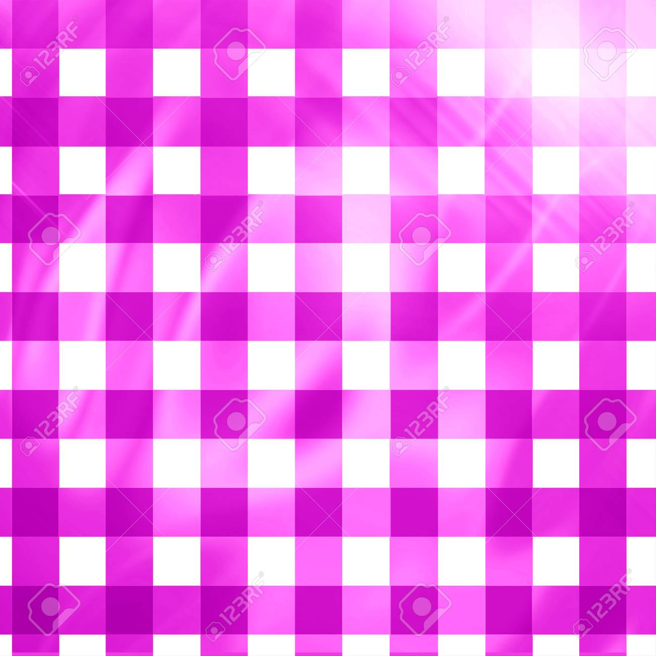 pink picnic cloth with some squares in it Stock Photo - 22619668