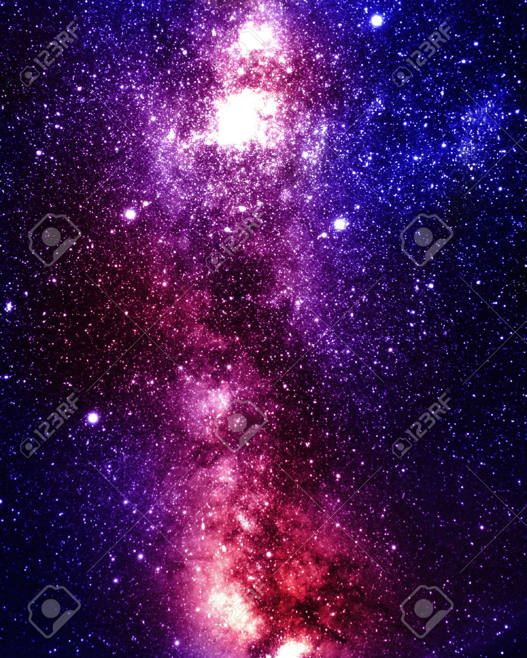 Colorful And Beautiful Galaxy Somewhere In Deep Outer Space Stock Photo