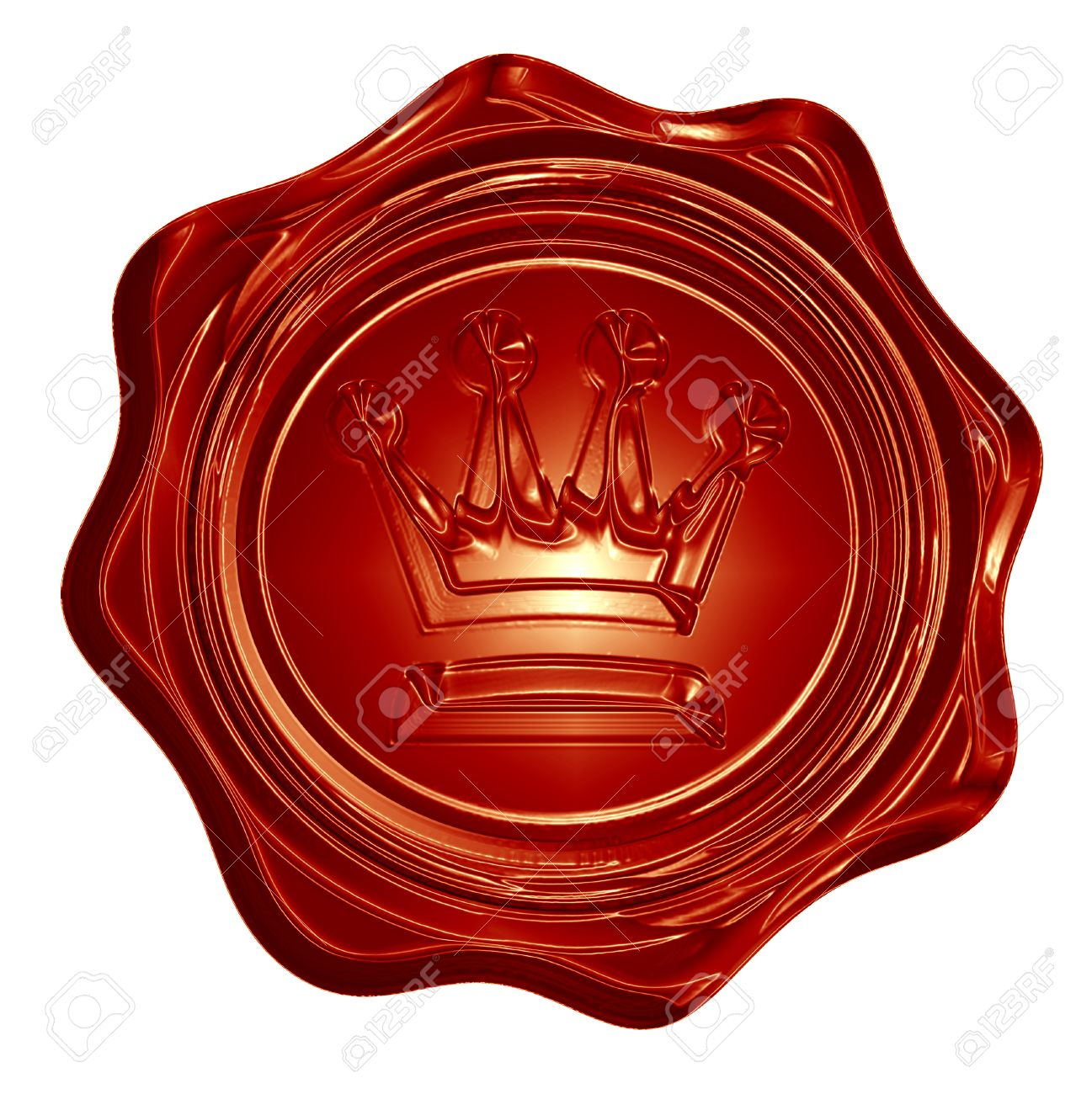 Royal Wax Seal With A Crown On It Stock Photo Picture And Royalty Free Image Image 23000036