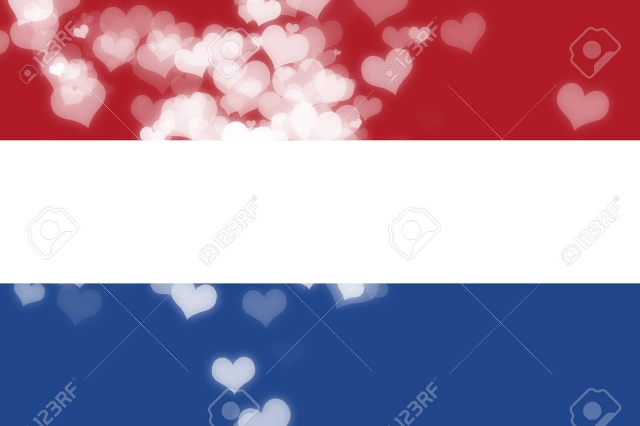 Bandiera Olandese Con Alcuni Punti Salienti Morbide E Pieghe Foto