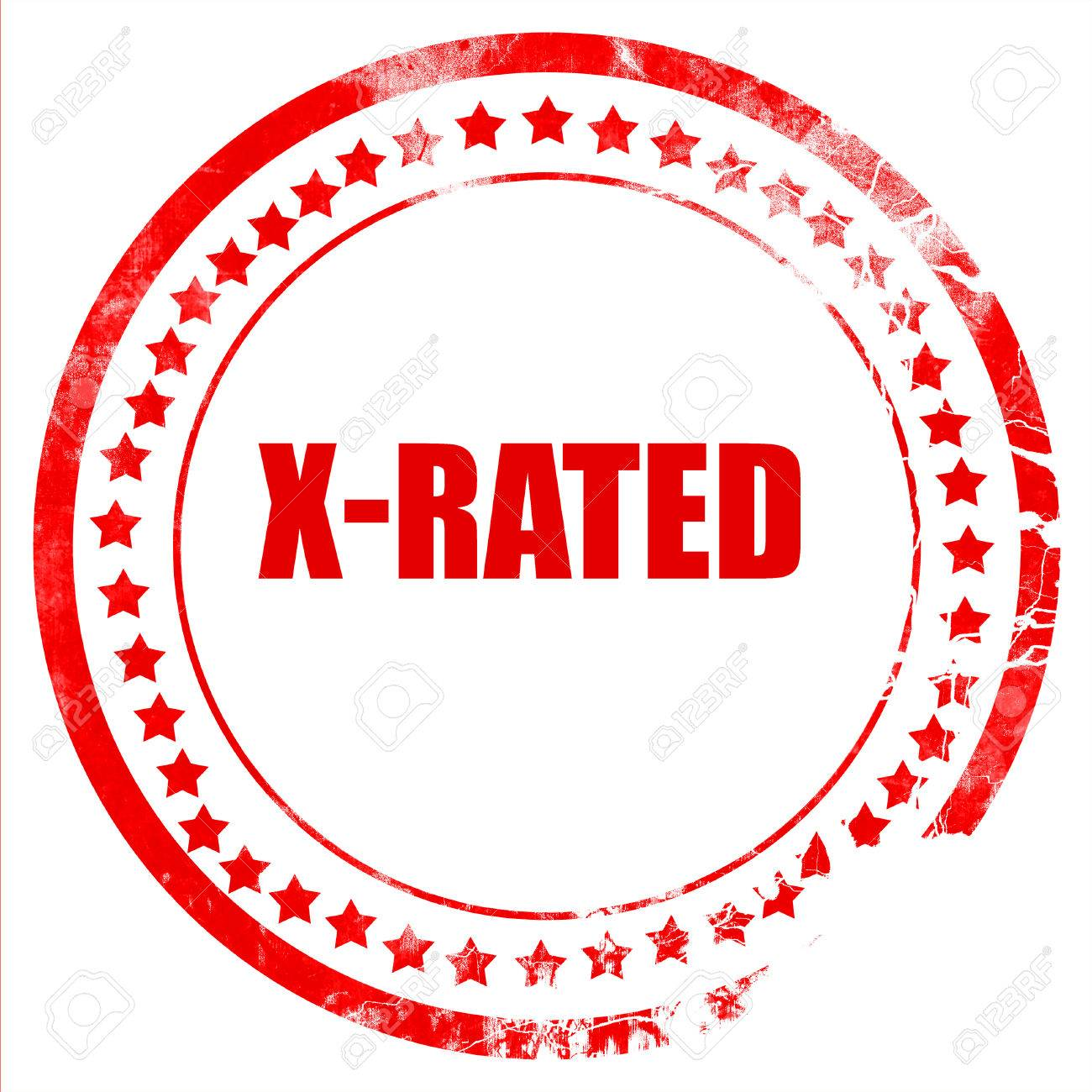 x-rated sign with some nice vivid colors stock photo, picture and
