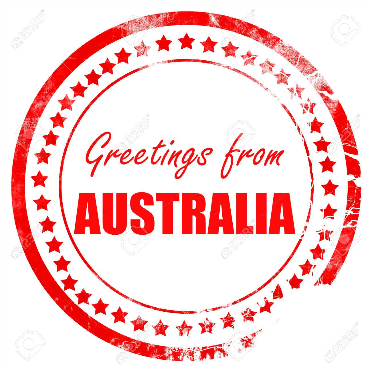 Greetings from australia card with some soft highlights stock photo greetings from australia card with some soft highlights stock photo 53784901 m4hsunfo
