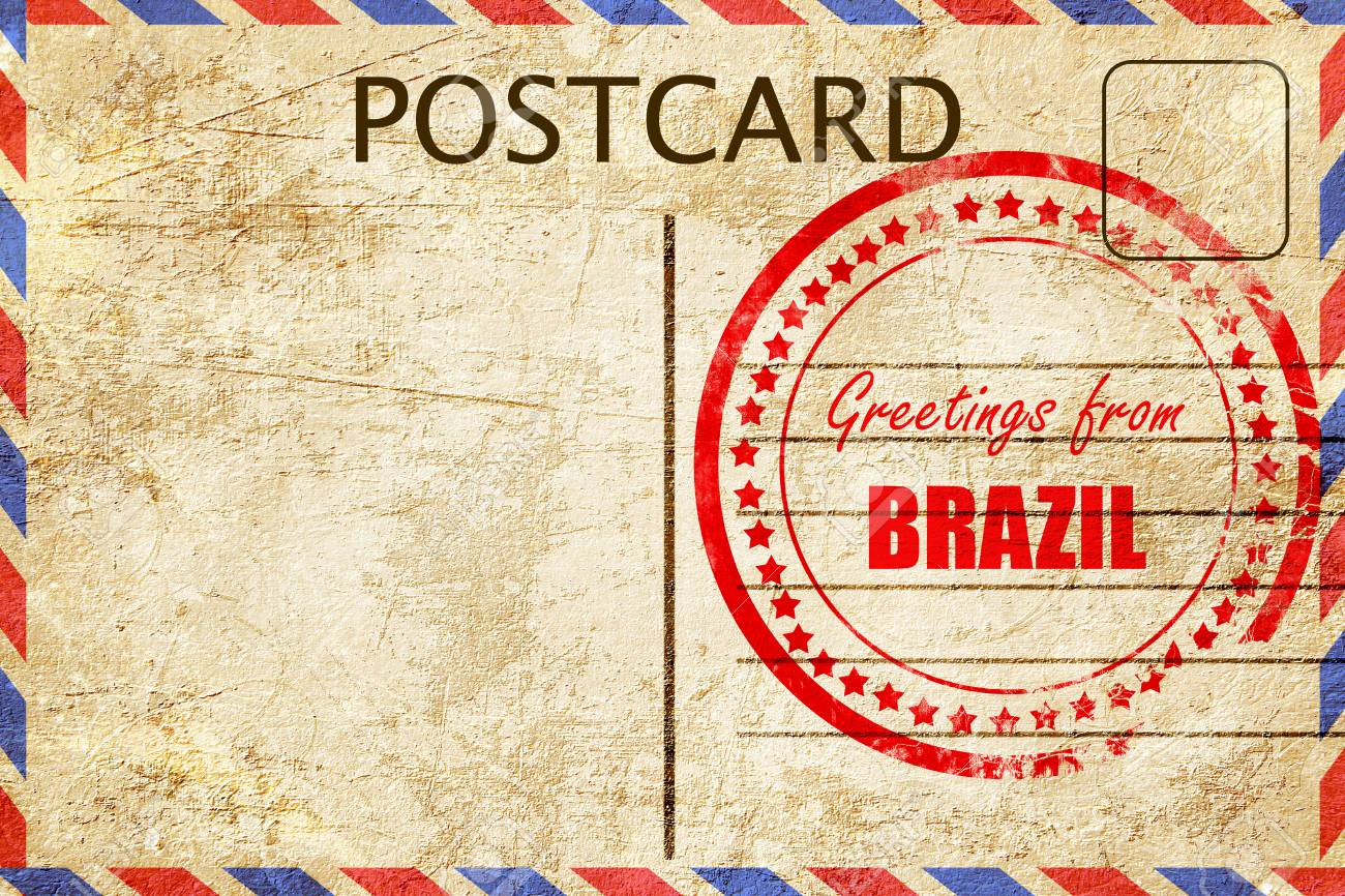 Greetings from brazil card with some soft highlights stock photo greetings from brazil card with some soft highlights stock photo 53784734 m4hsunfo