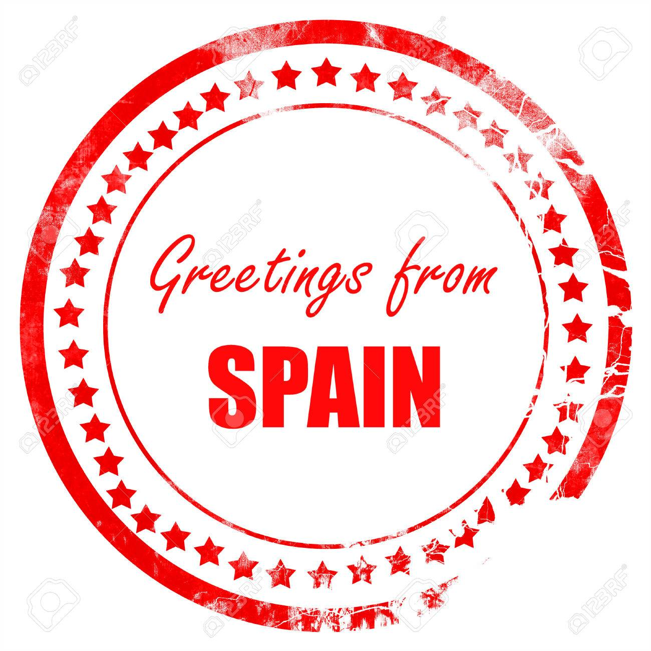 Greetings from spain card with some soft highlights stock photo greetings from spain card with some soft highlights stock photo 53838741 m4hsunfo