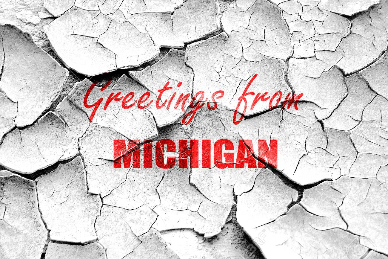 Grunge cracked greetings from michigan with some smooth lines stock grunge cracked greetings from michigan with some smooth lines stock photo 54330551 m4hsunfo