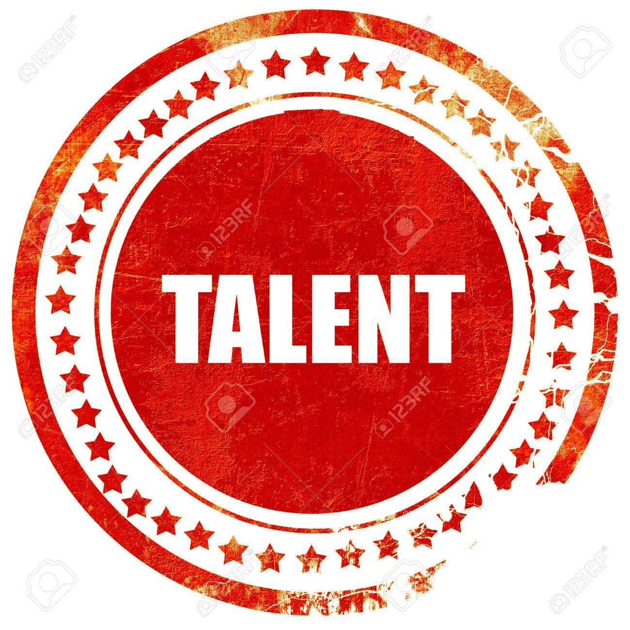 Talento Aislado Sello De Goma De Color Rojo Sobre Un Fondo Blanco Solido