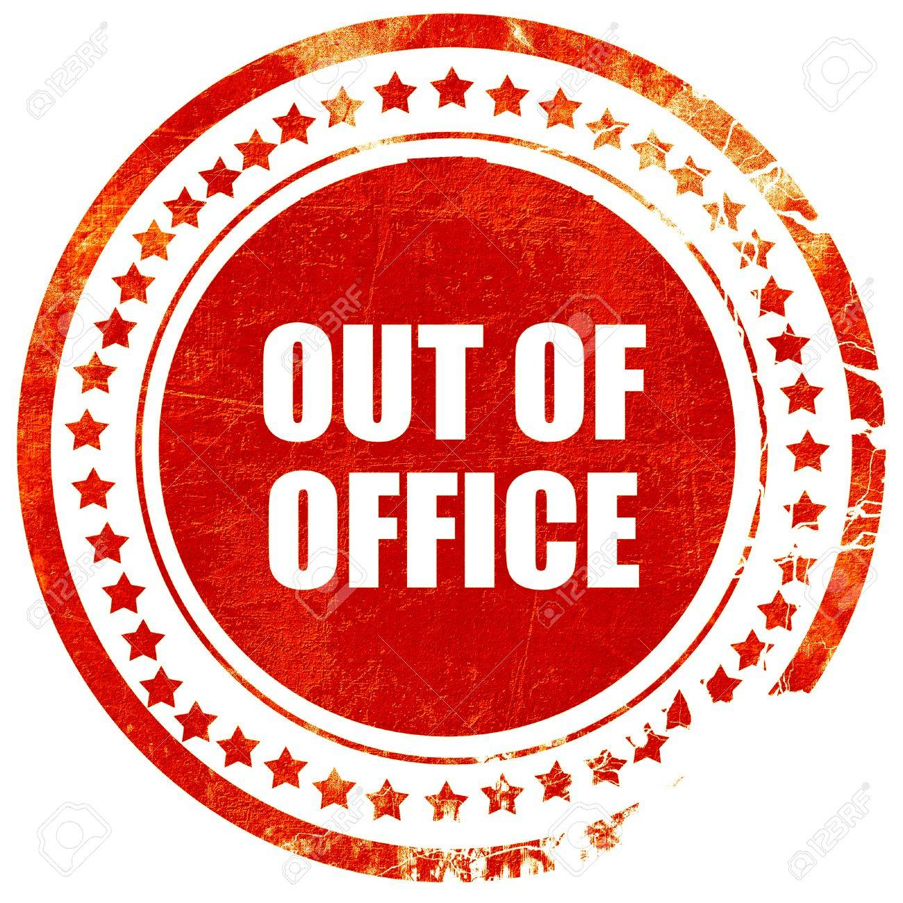 out of office isolated red rubber stamp on a solid white background rh 123rf com out of office clipart free out of office message clipart